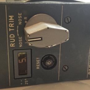 Rudder trim indicator – its alive!